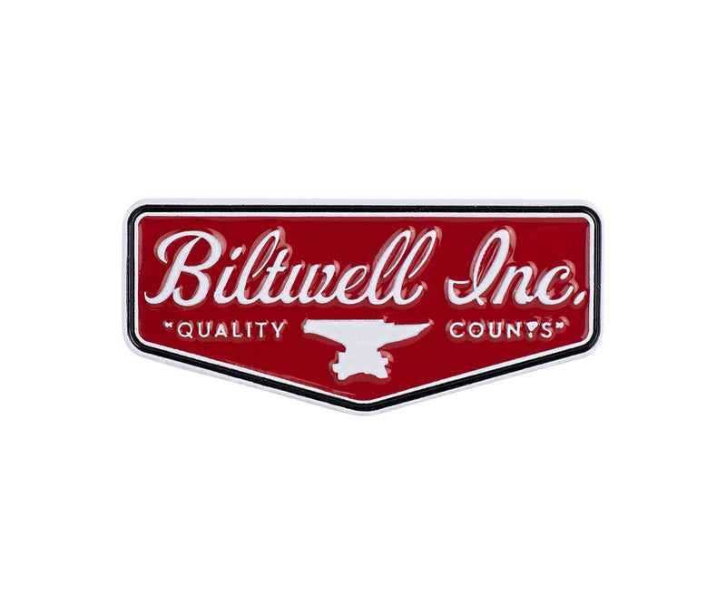 Biltwell Enamel Pin Shield - Red / White