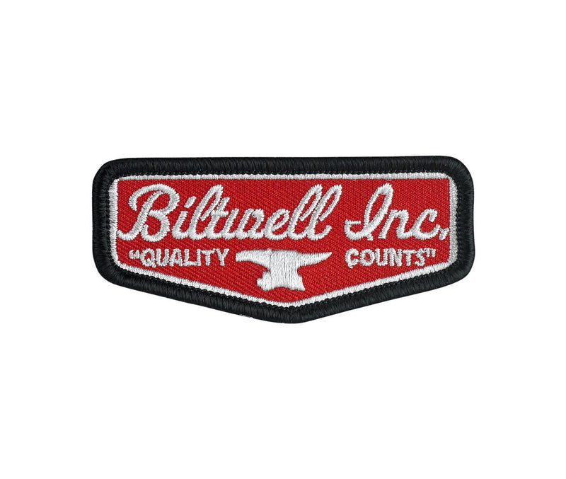 "Biltwell Shield Patch 3"" - Red / Grey / Black"