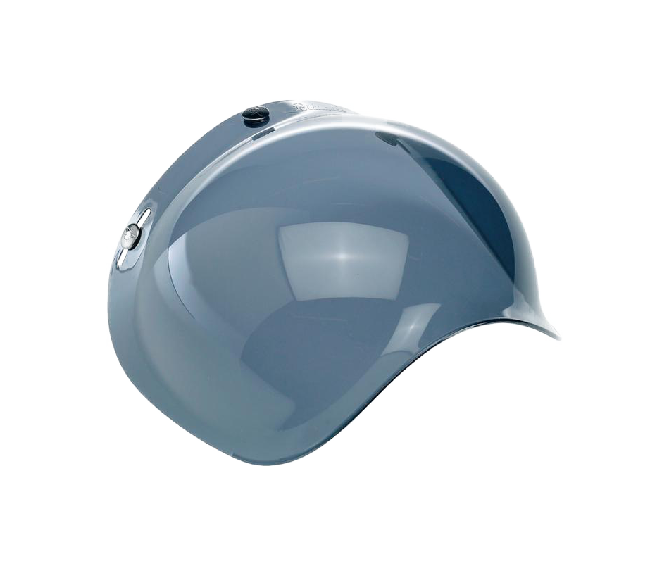 Biltwell Bubble Shield - Smoke - Ton-Up New Zealand - Motorcycle Helmets, Clothing & Accessories