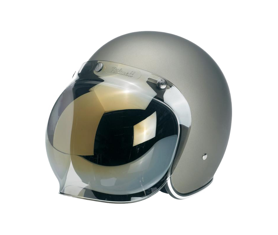 Biltwell Bubble Shield - Gold Mirror - Ton-Up New Zealand - Motorcycle Helmets, Clothing & Accessories