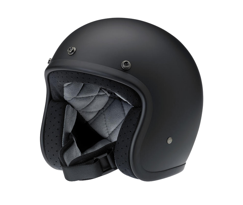 Biltwell Bonanza Helmet - Flat Black - Ton-Up New Zealand - Motorcycle Helmets, Clothing & Accessories