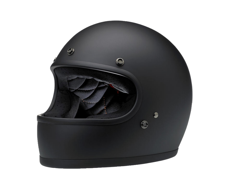 Biltwell Gringo Helmet - Flat Black - Ton-Up New Zealand - Motorcycle Helmets, Clothing & Accessories