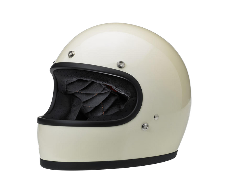 Biltwell Gringo Helmet - Gloss Vintage White - Ton-Up New Zealand - Motorcycle Helmets, Clothing & Accessories