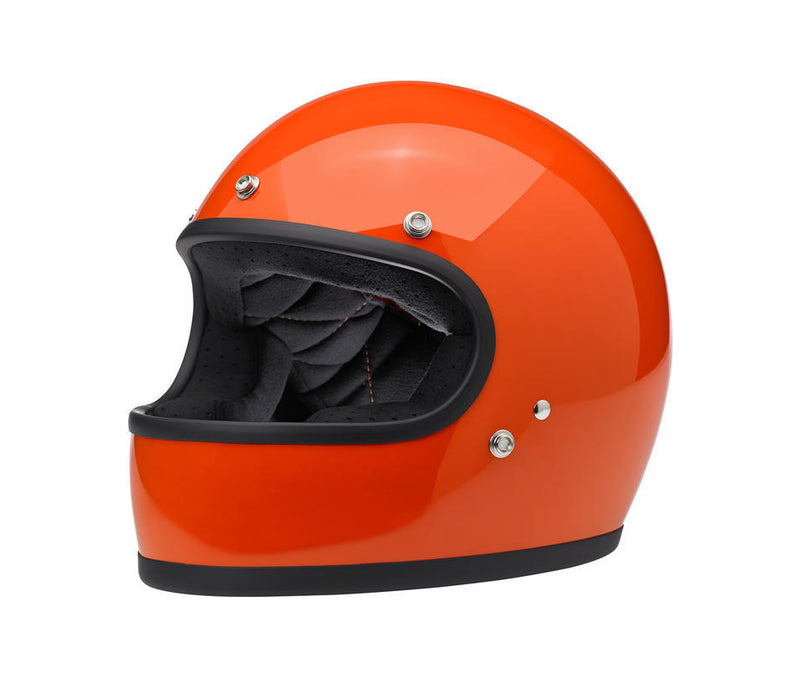Biltwell Gringo Helmet - Hazard Orange - Ton-Up New Zealand - Motorcycle Helmets, Clothing & Accessories