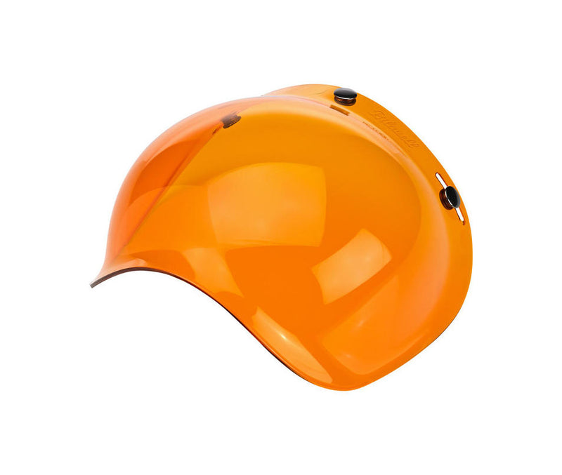 Biltwell Bubble Shield - Amber - Ton-Up New Zealand - Motorcycle Helmets, Clothing & Accessories
