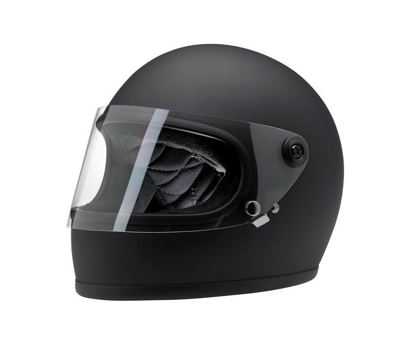 Biltwell Gringo S Helmet - Flat Black - Ton-Up New Zealand - Motorcycle Helmets, Clothing & Accessories