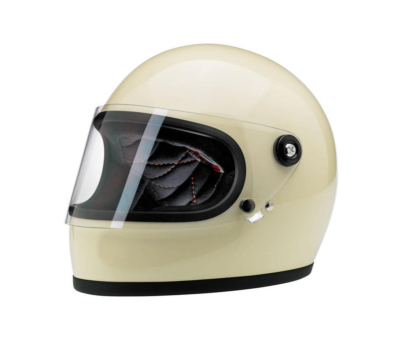 Biltwell Gringo S Helmet - Vintage White - Ton-Up New Zealand - Motorcycle Helmets, Clothing & Accessories