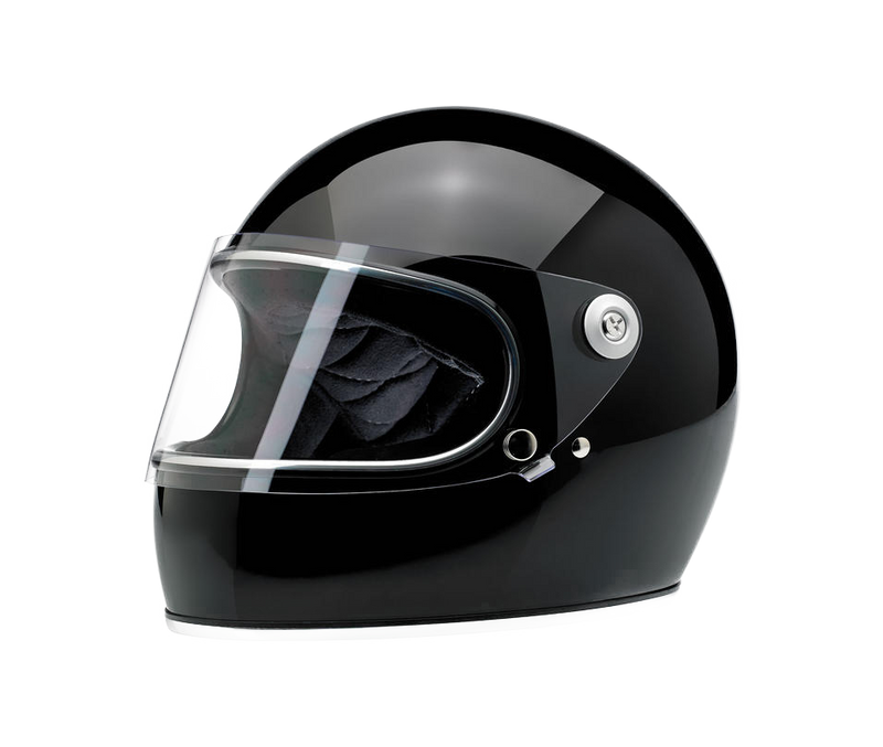 Biltwell Gringo S Helmet - Gloss Black - Ton-Up New Zealand - Motorcycle Helmets, Clothing & Accessories