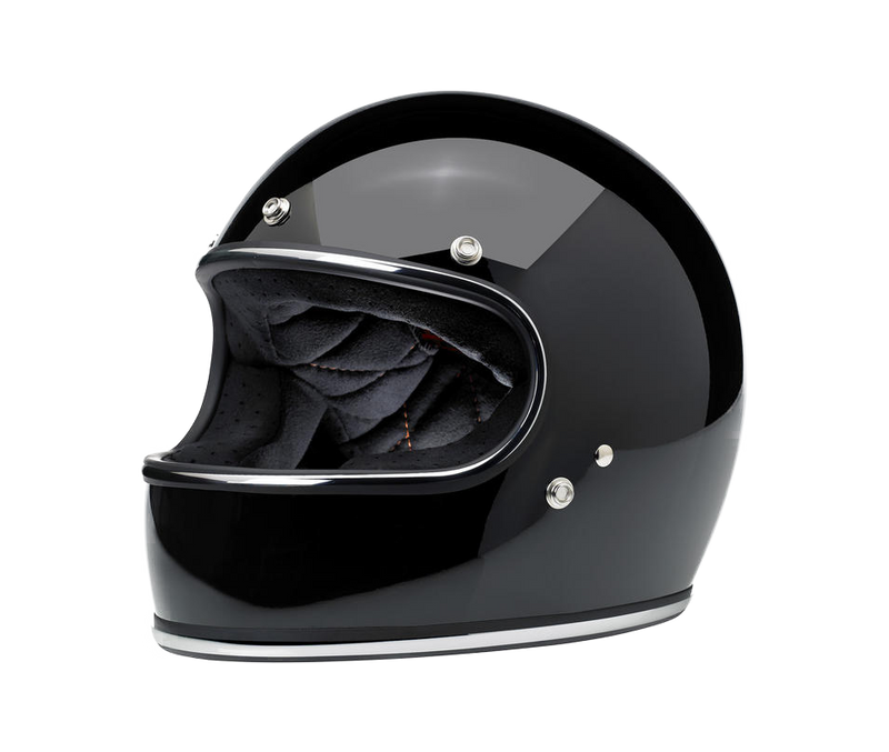 Biltwell Gringo Helmet - Gloss Black - Ton-Up New Zealand - Motorcycle Helmets, Clothing & Accessories