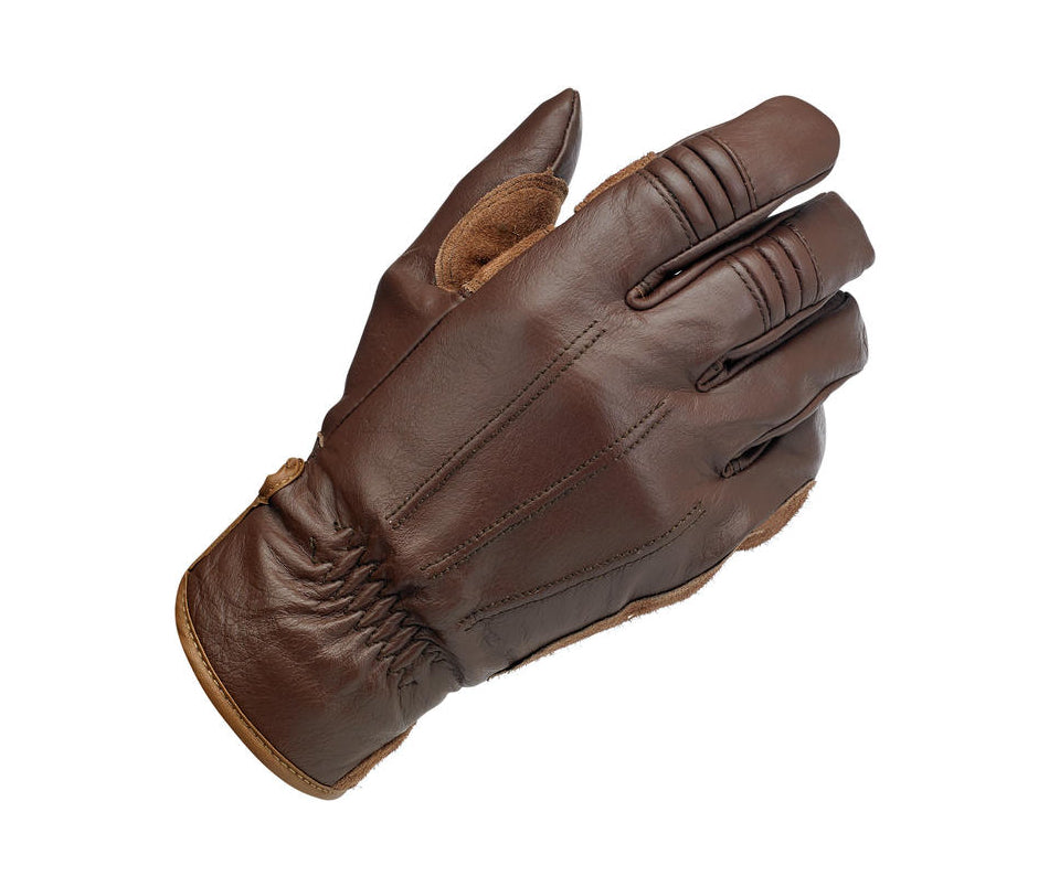 Biltwell Work Glove - Chocolate - Ton-Up New Zealand - Motorcycle Helmets, Clothing & Accessories