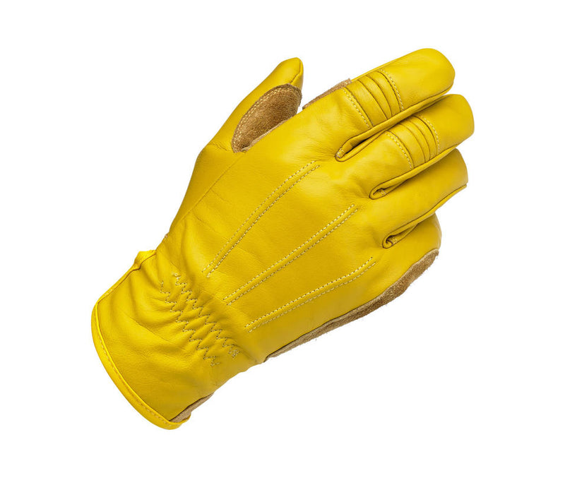 Biltwell Work Glove - Gold - Ton-Up New Zealand - Motorcycle Helmets, Clothing & Accessories