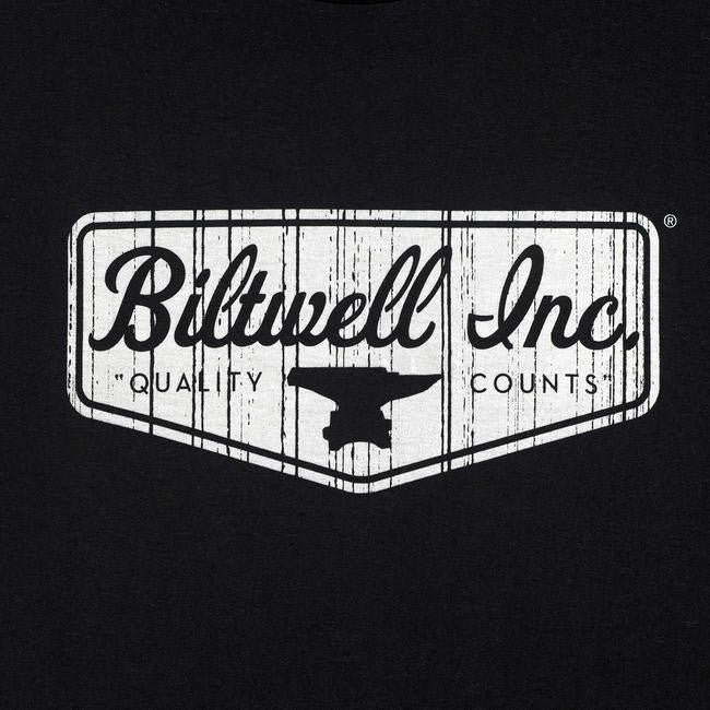 Biltwell Shield T-Shirt - Black - Ton-Up New Zealand - Motorcycle Helmets, Clothing & Accessories