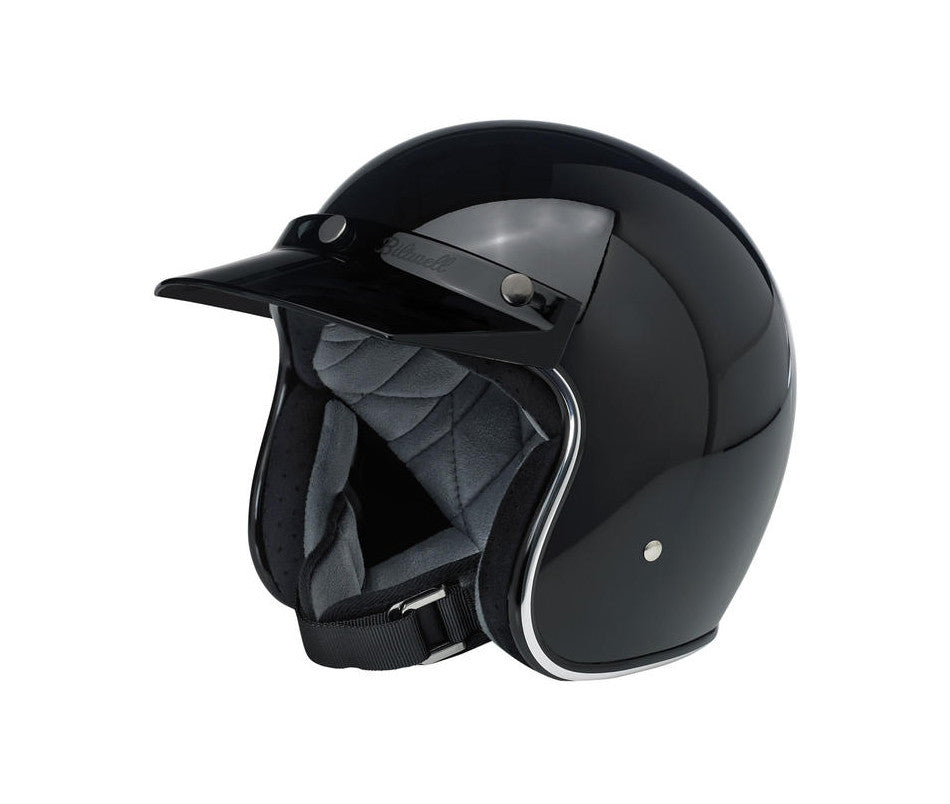 Biltwell Moto Visor - Black - Ton-Up New Zealand - Motorcycle Helmets, Clothing & Accessories