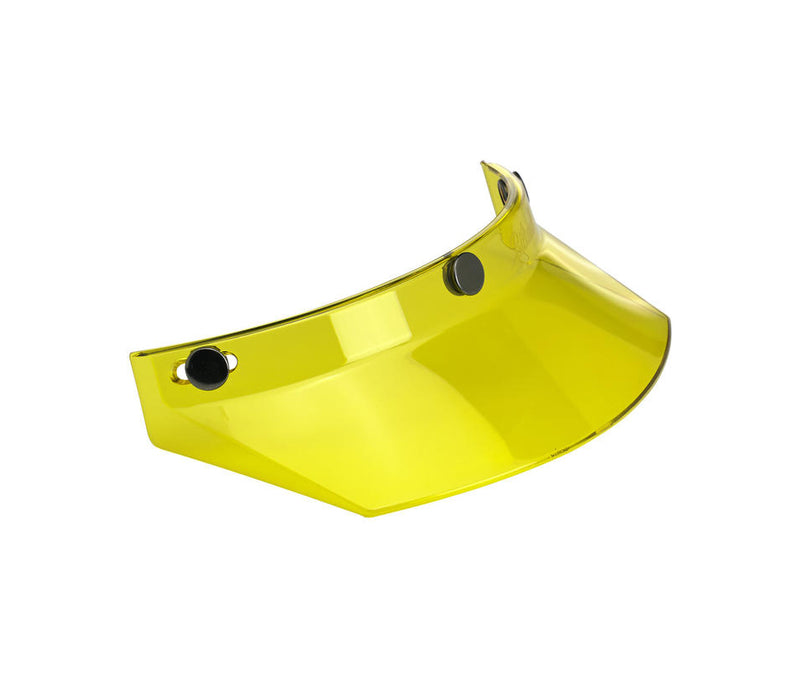 Biltwell Moto Visor - Yellow - Ton-Up New Zealand - Motorcycle Helmets, Clothing & Accessories