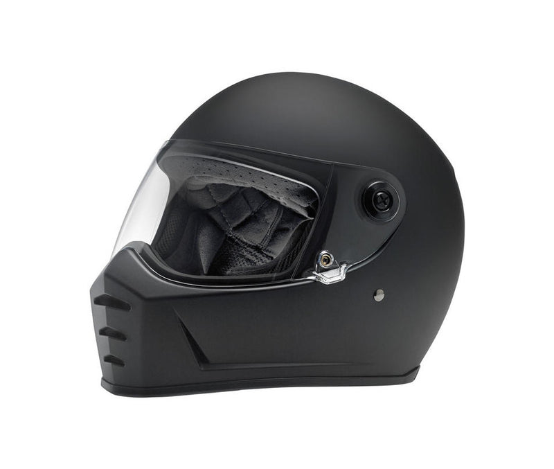 Biltwell Lane Splitter Motorcycle Helmet - Flat Black - Ton-Up New Zealand - Motorcycle Helmets, Clothing & Accessories