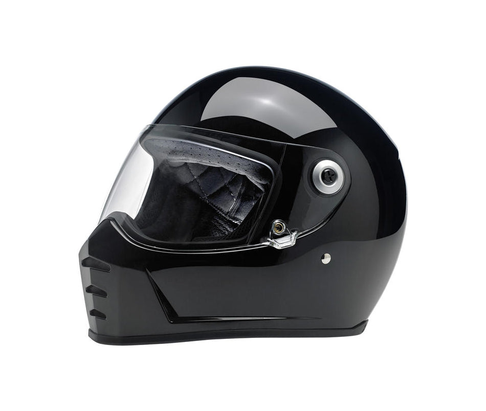 Biltwell Lane Splitter Motorcycle Helmet - Gloss Black - Ton-Up New Zealand - Motorcycle Helmets, Clothing & Accessories