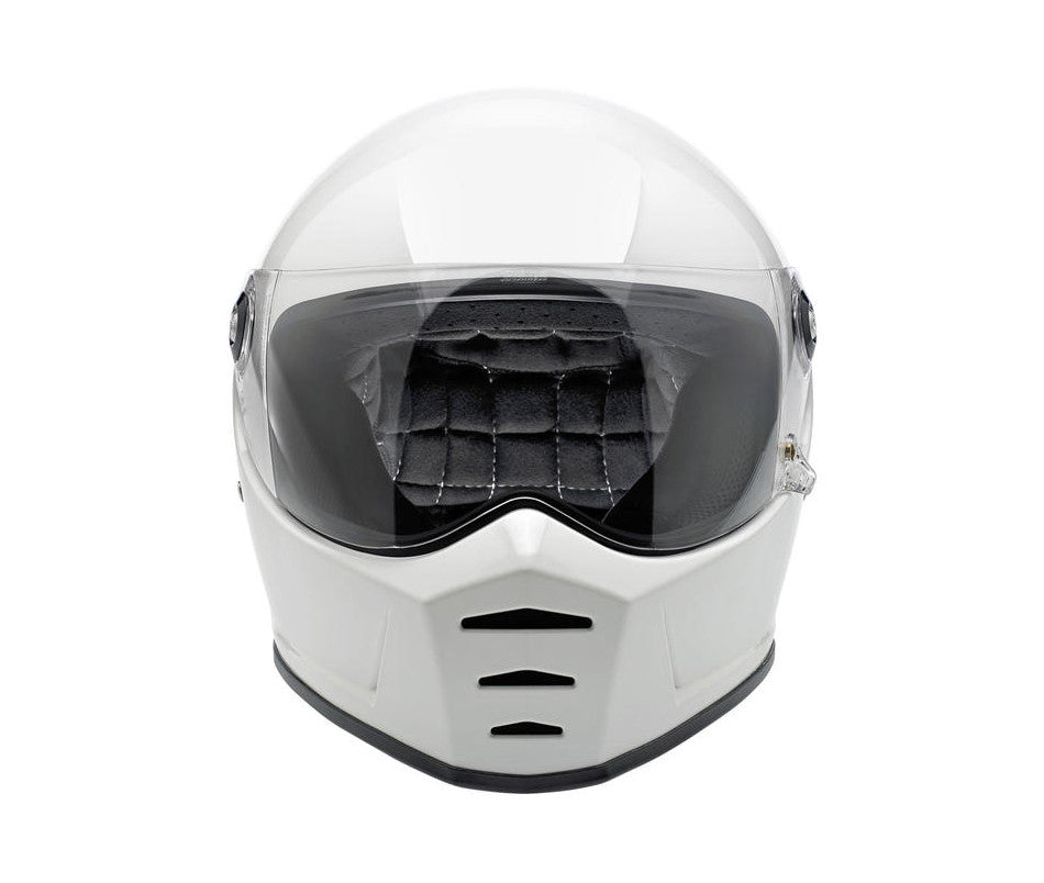 Biltwell Lane Splitter Motorcycle Helmet - Gloss White - Ton-Up New Zealand - Motorcycle Helmets, Clothing & Accessories