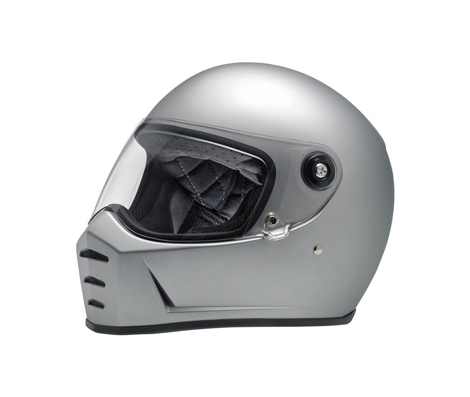 Biltwell Lane Splitter Motorcycle Helmet - Flat Silver - Ton-Up New Zealand - Motorcycle Helmets, Clothing & Accessories