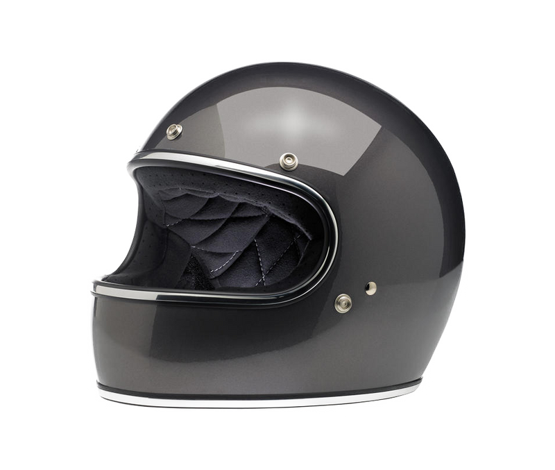 Biltwell Gringo Helmet - Charcoal Metallic - Ton-Up New Zealand - Motorcycle Helmets, Clothing & Accessories