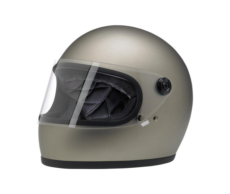 Biltwell Gringo S Helmet - Flat Titanium - Ton-Up New Zealand - Motorcycle Helmets, Clothing & Accessories