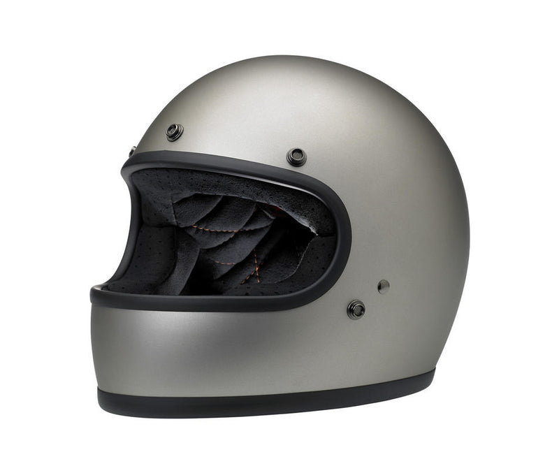Biltwell Gringo Helmet - Flat Titanium - Ton-Up New Zealand - Motorcycle Helmets, Clothing & Accessories