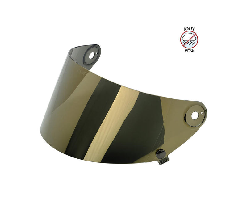 Biltwell Gringo S Anti-Fog Flat Shield - Gold Mirror