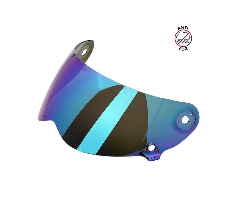 Biltwell Lane Splitter Anti-Fog Shield - Rainbow Mirror