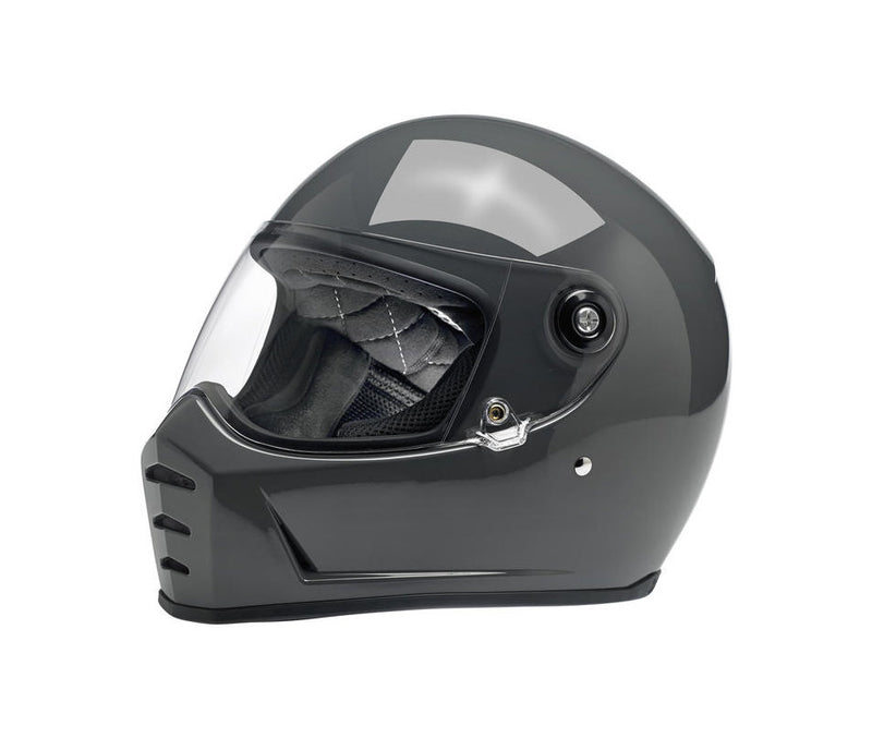 Biltwell Lane Splitter Motorcycle Helmet - Gloss Storm Grey