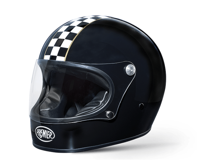 Premier Trophy CK Black - Ton-Up New Zealand - Motorcycle Helmets, Clothing & Accessories