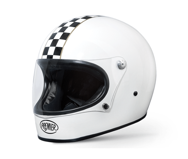 Premier Trophy CK White - Ton-Up New Zealand - Motorcycle Helmets, Clothing & Accessories