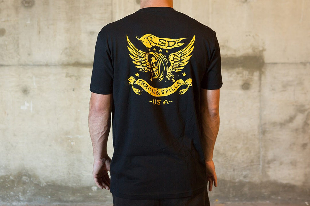 RSD (Roland Sands Design) Thrills T-Shirt - Black - Ton-Up New Zealand - Motorcycle Helmets, Clothing & Accessories