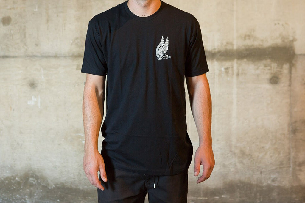 RSD (Roland Sands Design) Traction Wing T-Shirt - Black - Ton-Up New Zealand - Motorcycle Helmets, Clothing & Accessories