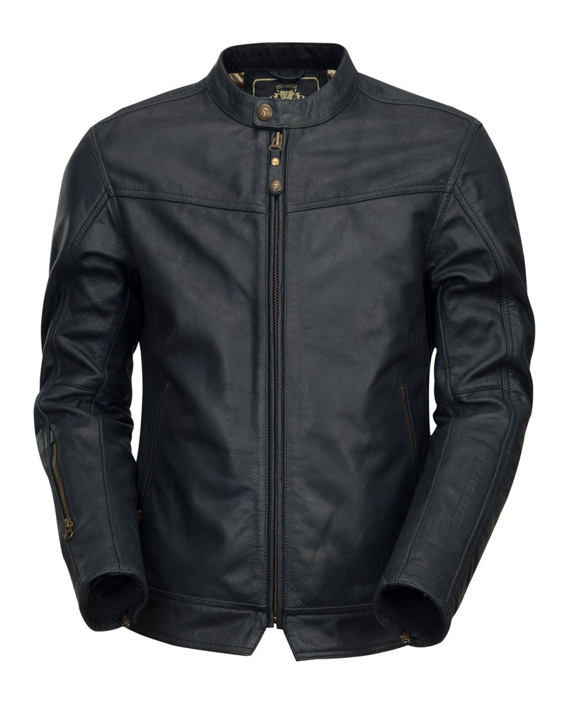 RSD (Roland Sands Design) Walker Leather Jacket - Black - Ton-Up New Zealand - Motorcycle Helmets, Clothing & Accessories