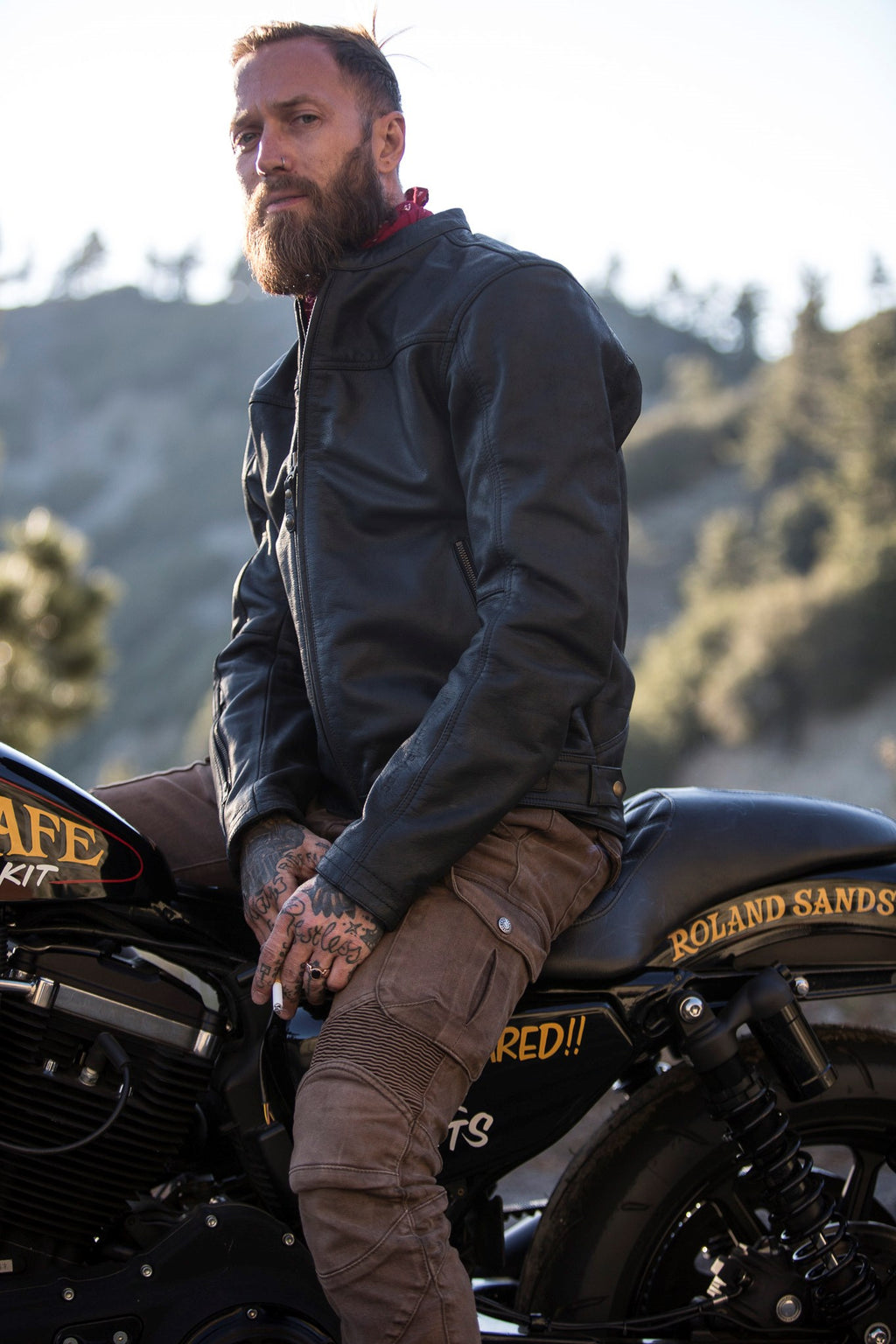 RSD (Roland Sands Design) Walker Leather Jacket - Brown - Ton-Up New Zealand - Motorcycle Helmets, Clothing & Accessories