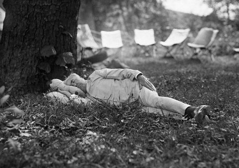 Thomas Edison Taking A Nap, 1921