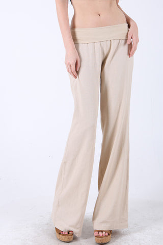 Cool & Comfy Fold Over Linen Pants
