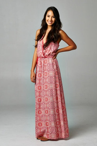 The Weekender Floral Maxi Halter Dress