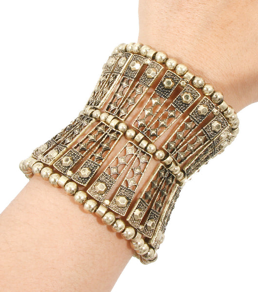 Cleopatra Beaded Statement Bracelet