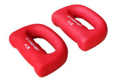 Gymenist Set of 2 Hand Shaped Neoprene Exercise Workout Jogging Walking Cardio Dumbbells Pair