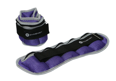 GYMENIST Pair of Ankle and Wrist Weights Adjustable Size The Weight Can Also Be Adjusted (Up to 2 LBS)