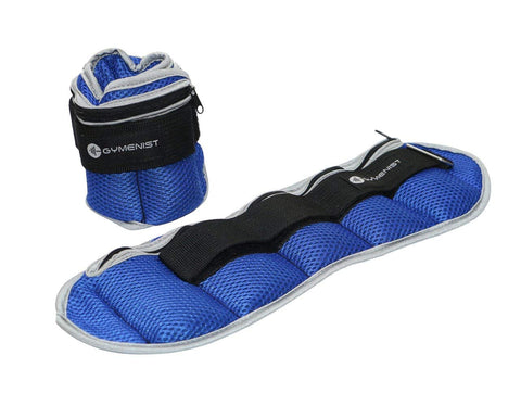 GYMENIST Pair of Ankle and Wrist Weights Adjustable Size The Weight Can Also Be Adjusted (Up to 4 LBS)