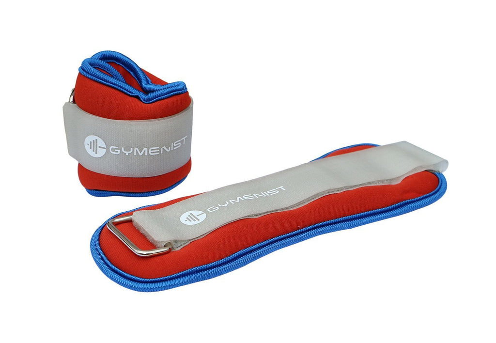 GYMENIST Water Proof Ankle and Wrist Weights with Adjustable Strap Great for Swimming and All Water Sports Activities