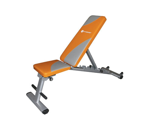 Gymenist Exercise Bench Foldable Can Be Used 7 Different Angles Positions, Can Be Folded Flat For Storage