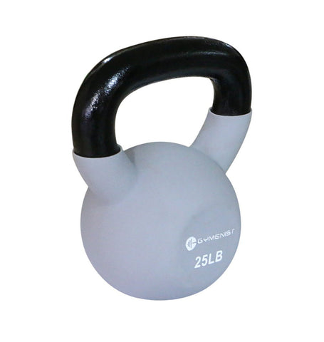 Gymenist Kettlebell Iron Weights With Neoprene Coating Around The Bottom Half of The Metal Kettle Bell
