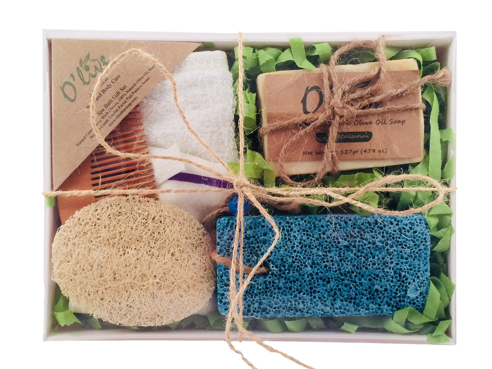 O Live Spa Bath Gift Set With Cotton Body Scrubber