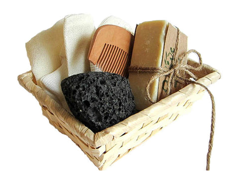 O'live Spa Bath Gift Basket - Small Facial Set