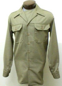 US Army Convertible Collar style EM OD Wool shirt