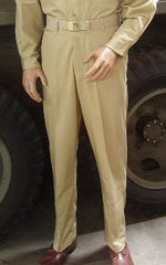 EM Cotton Khaki Trousers and Khaki Web Belt