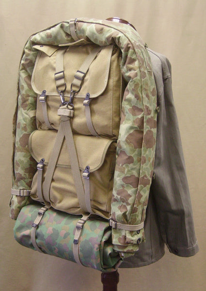 7206df67d54 During WWII the U.S. military used cotton webbing and canvas materials to  produce personal equipment to be used in the field by it s personnel.