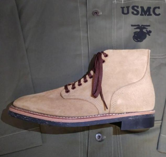 Shoes, Service, Boondocker, USN/USMC (Plain Heel)